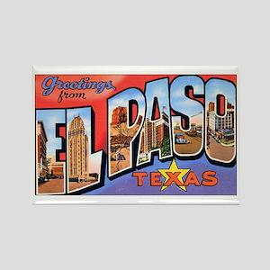 El Paso Texas Greetings Rectangle Magnet