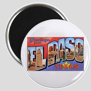 El Paso Texas Greetings Magnet