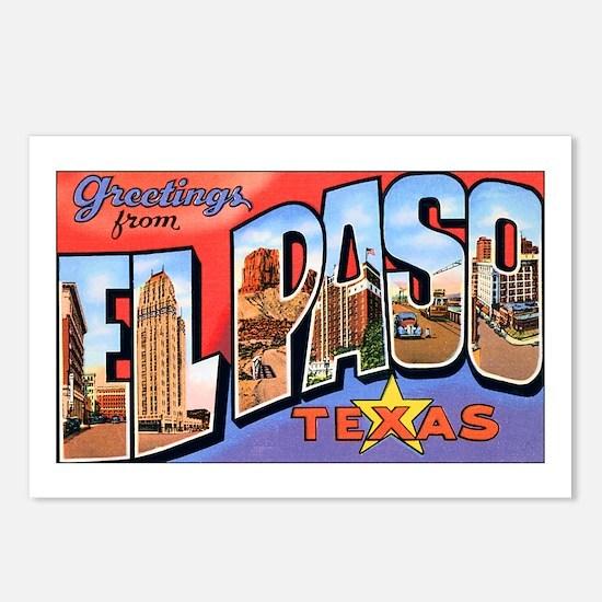 El Paso Texas Greetings Postcards (Package of 8)