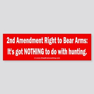 Right to bear arms... Sticker (Bumper)