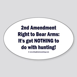 Right to bear arms... Sticker (Oval)