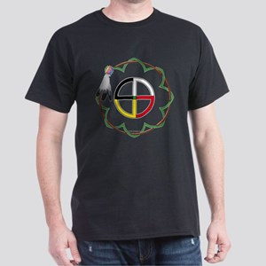 Four Directions Sacred Symbol Black T-Shirt