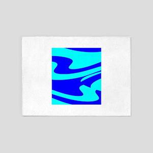 Turquoise Wild Wave 4Randy 5'x7'Area Rug