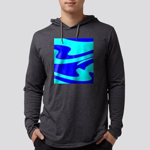 Turquoise Wild Wave 4Randy Mens Hooded Shirt