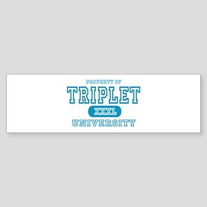Triplet University Bumper Sticker