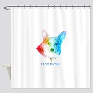 I love Corgis Shower Curtain