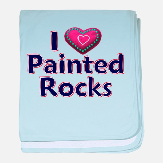 City Painted Rocks Painting baby blanket