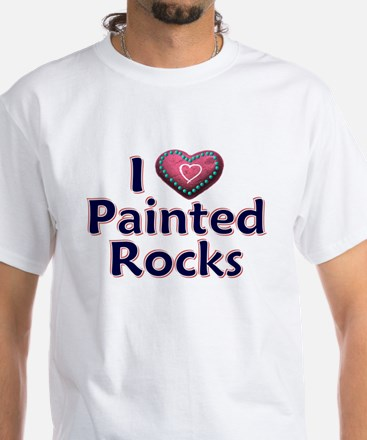 City Painted Rocks Painting T-Shirt