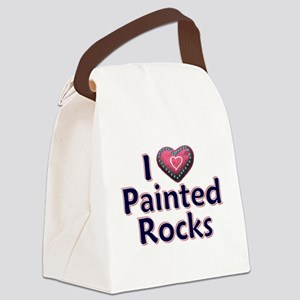 City Painted Rocks Painting Canvas Lunch Bag