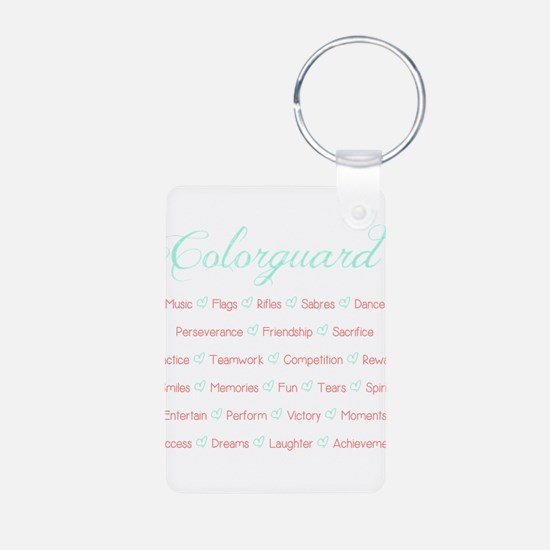 Colorguard Mint and Coral Keychains