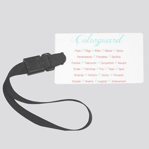 Colorguard Mint and Coral Large Luggage Tag