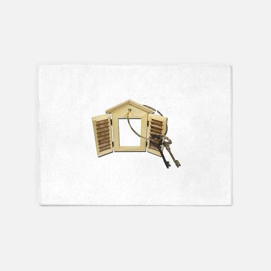 Shuttered Window Keys 5'x7'Area Rug