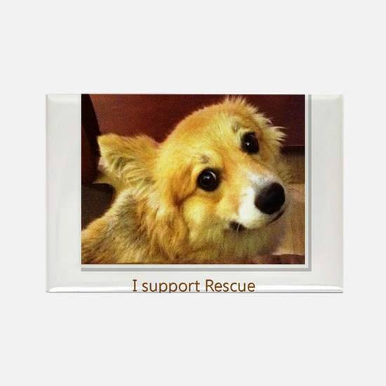 Support Rescue Rectangle Magnet