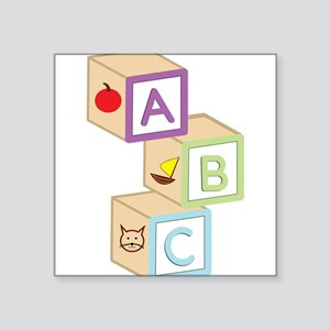 "Baby Blocks Square Sticker 3"" x 3"""