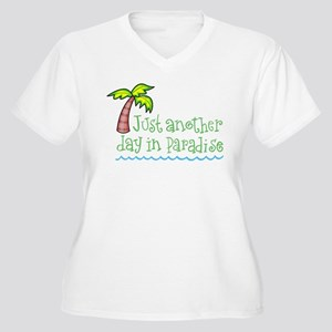 Another Day in Paradise Women's Plus Size V-Neck T