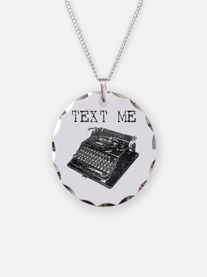Text Me vintage typewriter Necklace