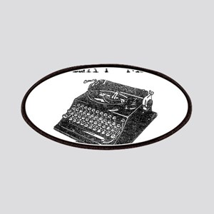 Text Me vintage typewriter Patches