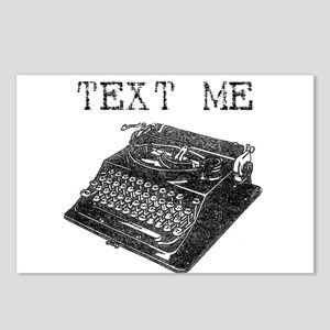 Text Me vintage typewriter Postcards (Package of 8