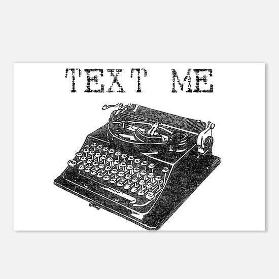 Text Me vintage typewriter Postcards (Package of 8