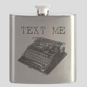 Text Me vintage typewriter Flask