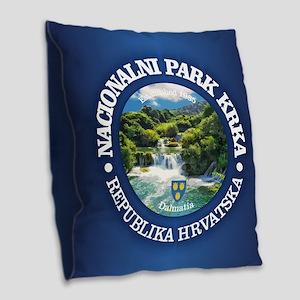 Krka NP Burlap Throw Pillow