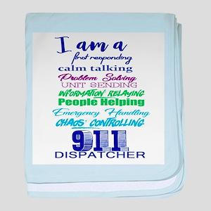 911 DISPATCHER baby blanket