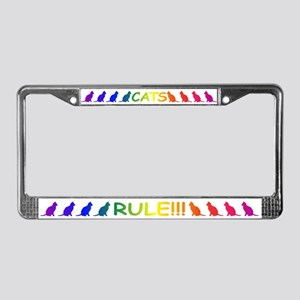 Cats Rule License Plate Frame