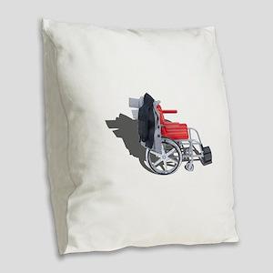 Houndstooth Jacket Wheelchair Burlap Throw Pillow