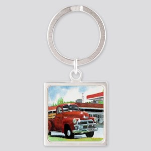 1954 Chevrolet Truck Square Keychain