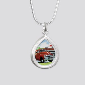 1954 Chevrolet Truck Silver Teardrop Necklace