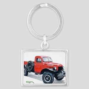 Antique Power Wagon Landscape Keychain