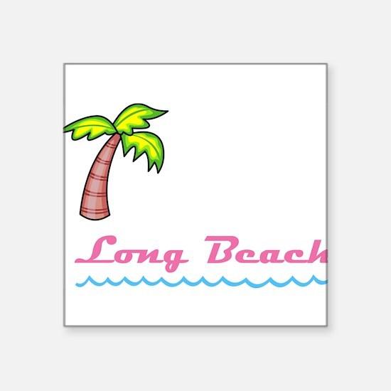 "Long Beach Square Sticker 3"" x 3"""