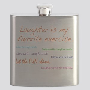 Laughter Is My Favorite Exercise Flask