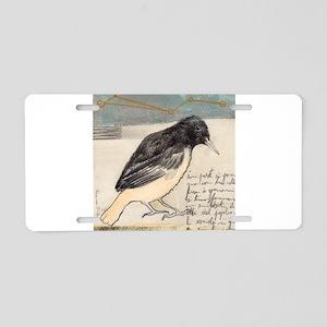 Black Bird Singing - Aluminum License Plate