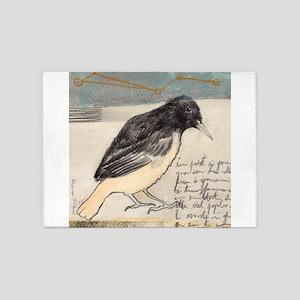 Black Bird Singing - 5'x7'Area Rug
