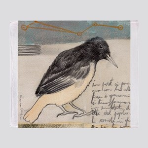 Black Bird Singing - Throw Blanket