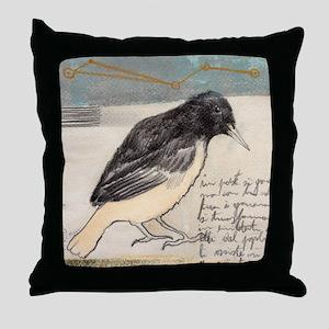 Black Bird Singing - Throw Pillow