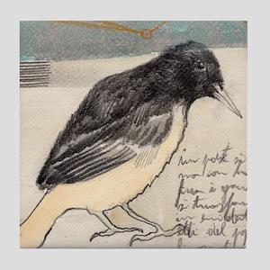 Black Bird Singing - Tile Coaster