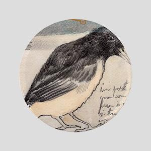 """Black Bird Singing - 3.5"""" Button"""