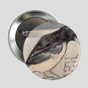 """Black Bird Singing - 2.25"""" Button"""