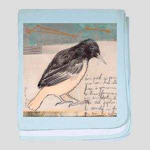 Black Bird Singing - baby blanket