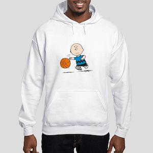 Basketballer Brown Hooded Sweatshirt