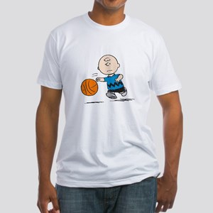 Basketballer Brown Fitted T-Shirt