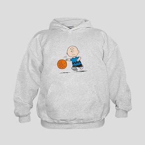 Basketballer Brown Kids Hoodie