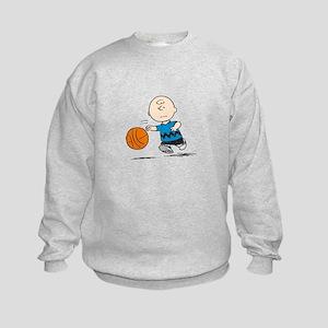 Basketballer Brown Kids Sweatshirt