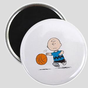 Basketballer Brown Magnet