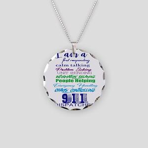 911 DISPATCHER Necklace Circle Charm