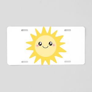 Cute happy sun Aluminum License Plate