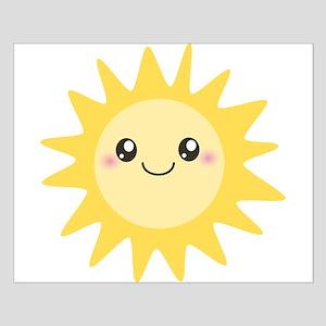 Cute happy sun Small Poster