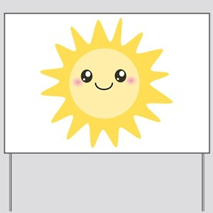 Cute happy sun Yard Sign